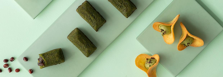 green tea sweets set
